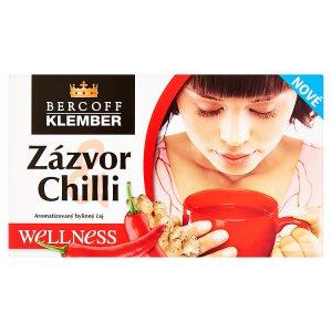 Bercoff Klember Welness Aromatizovaný bylinný čaj zázvor chilli 20 x 2,0g