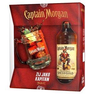 Captain Morgan Dárkové balení Captain Morgan Original Spiced Gold + sklenice (korbel) 0,7l