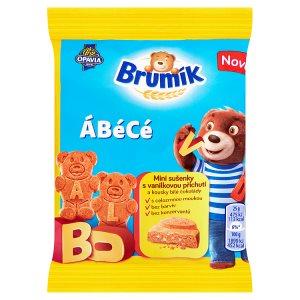 Opavia Brumík ÁBéCé mini sušenky s vanilkovou příchutí a kousky bílé čokolády 25g