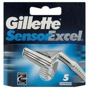 Gillette Sensor excel hlavice na holení 5 ks