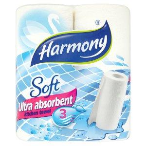 Harmony Soft ultra absorbent kuchyňské utěrky 3-vrst. 2 role