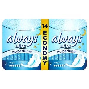 Always Ultra Night hygienické vložky 14 ks