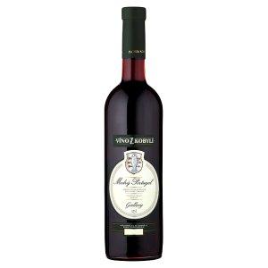 Víno Z Kobylí Modrý Portugal jakostní víno odrůdové polosuché červené 0,75l