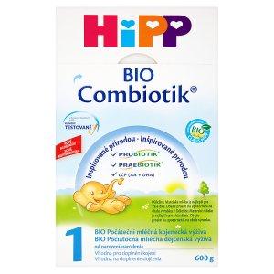HiPP 1 BIO combiotik počáteční mléčná od narození 600g