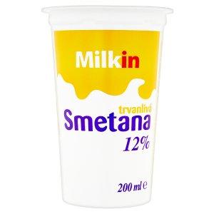 Milkin Trvanlivá smetana 12% 200ml
