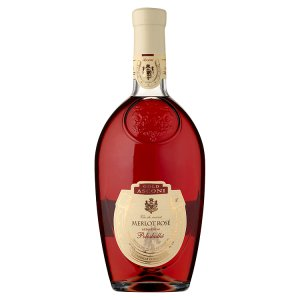 Asconi Gold Merlot rosé růžové víno polosladké 0,75l