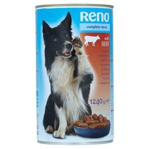 Reno Kompletní krmivo pro dospělé psy - kousky s hovězím v omáčce 1240g