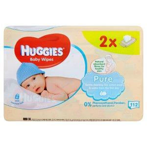 Huggies Pure dětské ubrousky 112 ks