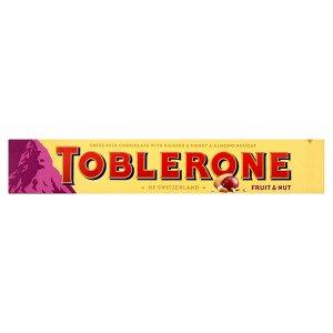 Toblerone Švýcarská mléčná čokoláda s rozinkami a medovo-mandlovým nugátem 100g