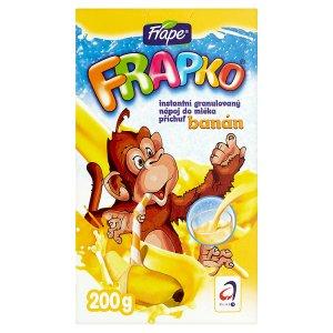 Frape Frapko Instantní granulovaný nápoj do mléka příchuť banán 200g