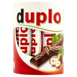 Kinder Duplo Oplatky s polevou z mléčné čokolády a lískooříškovou náplní 10 x 18,2g