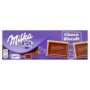 Milka Choco Biscuit máslové sušenky s tabulkou mléčné čokolády z alpského mléka 150g