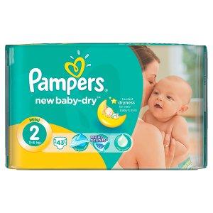 Pampers New Baby-Dry Dětské jednorázové pleny 2 mini 43 ks v akci