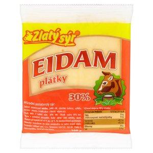 Zlatý Sýr Eidam 30% plátky 100g