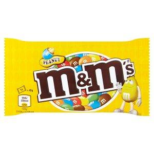 M&M's Arašídové čokoládové dražé s praženými arašídy v křupavé cukrové skořápce 45g