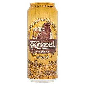 Velkopopovický Kozel Pivo výčepní světlé plechovka  0,5l