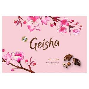 Fazer Geisha Mléčné a hořké čokoládové bonbony s náplní z lískových oříšků a nugátu 200g
