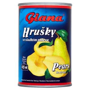 Giana Hrušky loupané, půlené ve sladkém nálevu 410g