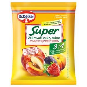Dr. Oetker Super želírovací cukr 3:1 na přípravu ovocných džemů a marmelád 500g