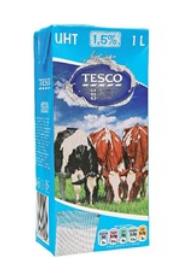 Tesco mléko polotučné trvanlivé 1l