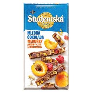 ORION STUDENTSKÁ PEČEŤ ZLATÁ EDICE mléčná čokoláda s meruňkami 170g