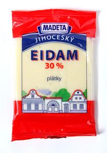 Madeta Jihočeský Eidam 30% plátky