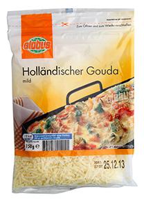 Holandský sýr Gouda strouhaný