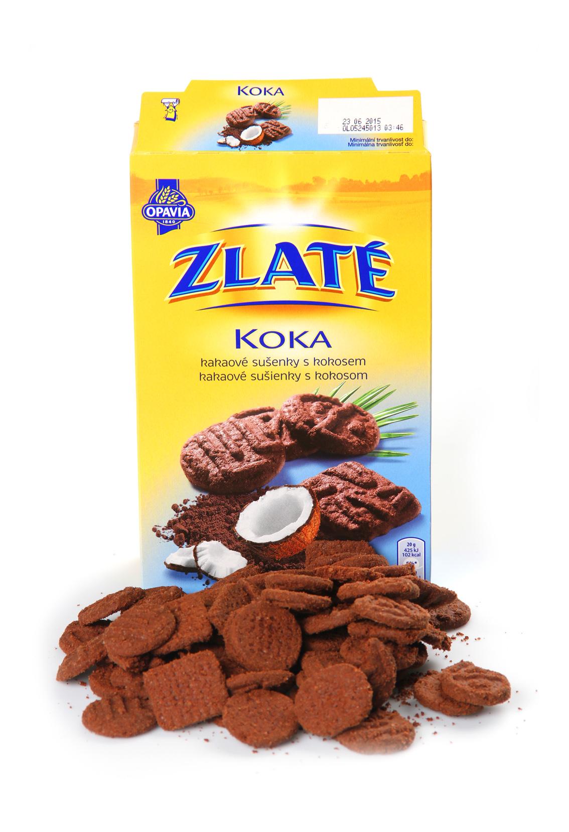 Zlaté Koka, sušenky s kokosem