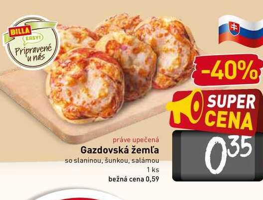Gazdovská žemla so slaninou, šunkou, salámou 1 ks