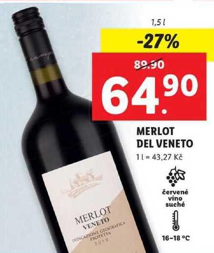 MERLOT DEL VENETO, 1,5 l